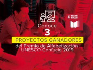 ODS 4 – Conoce 3 proyectos ganadores del Premio de Alfabetización UNESCO